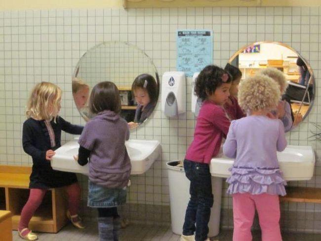 как правильно мыть руки в детском саду