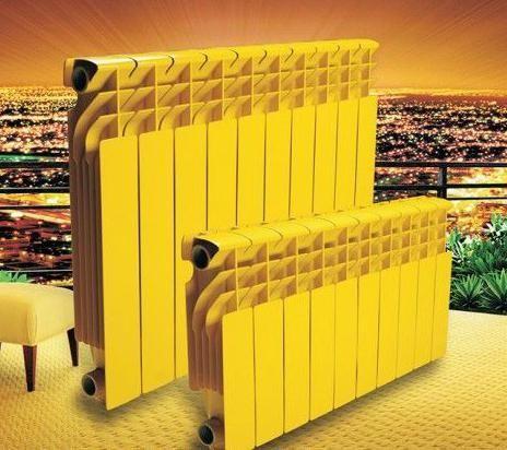 volumena aluminijumskih radijatora