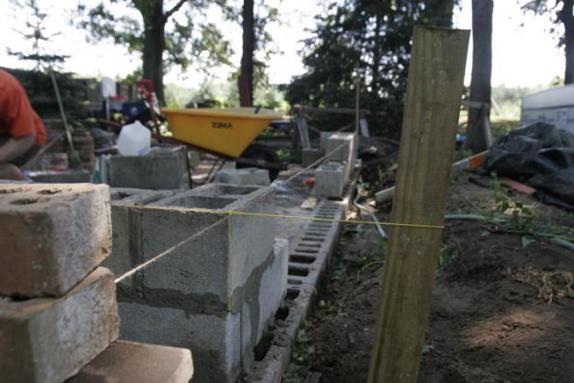 Oprema za drvnu-betonskih blokova