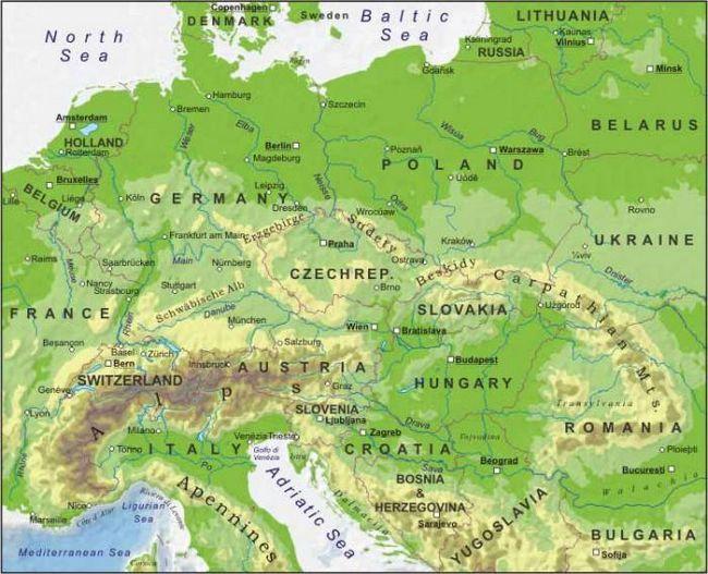 страны центральной европы