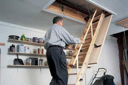 sklopivi potkrovlje stepenice sa rukama