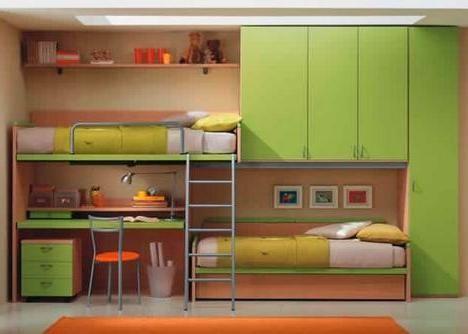 potkrovlje krevet imaju radne zone