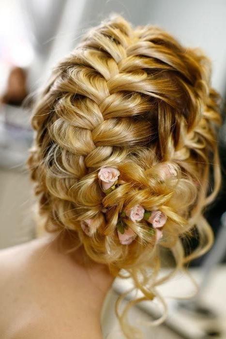 Цветы из волос. Прически на праздник