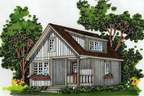kuća sa potkrovljem 6x4 fotografija