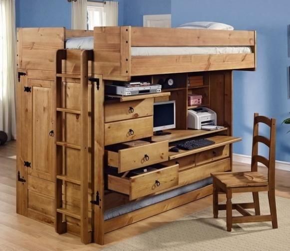 dječje potkrovlje krevet s radna površina