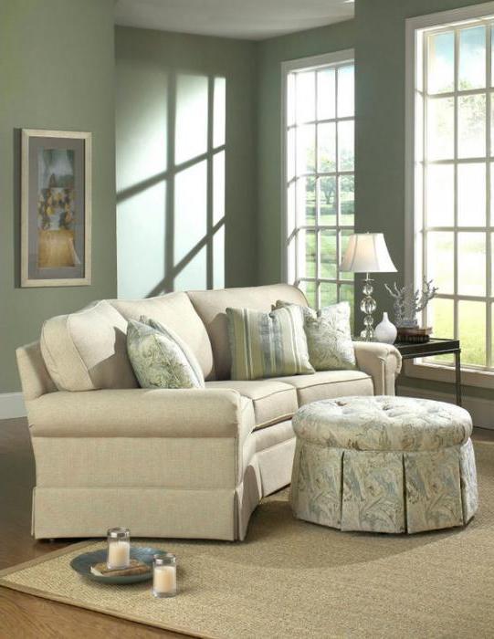 Диваны с оттоманкой в интерьере. Угловой диван с оттоманкой: размеры, фото