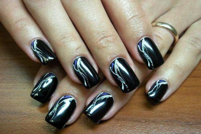 Dizajn crne nokte: ideju i kombinaciju tehnologije. Crno-bijeli dizajn noktiju