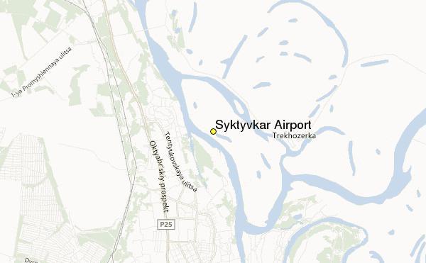 Syktyvkar Airport karta