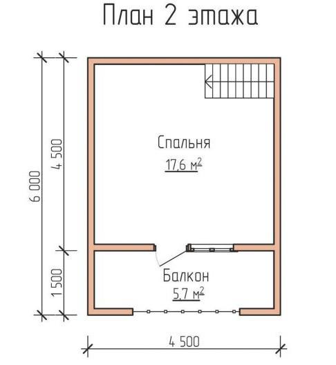 планировка дома 6 на 6 с мансардой фото