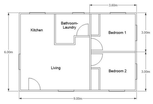 дом 6 на 9 планировка с мансардой