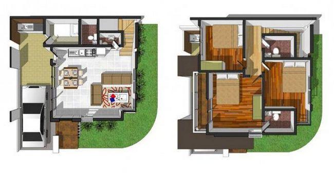 дом 9 на 9 планировка 2 этажа