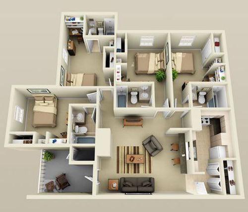 дом 9 на 9 планировка 1 этажный