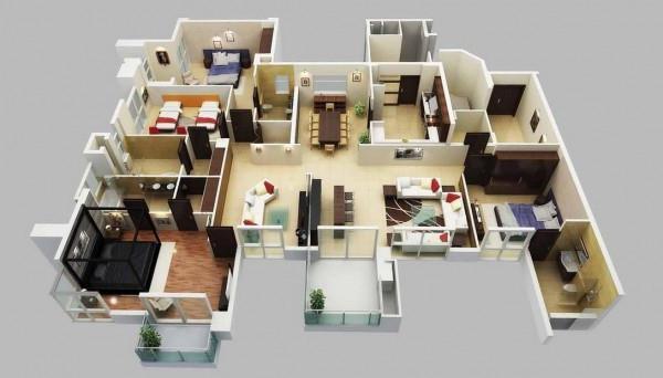 дом 9 на 9 планировка 1 этаж