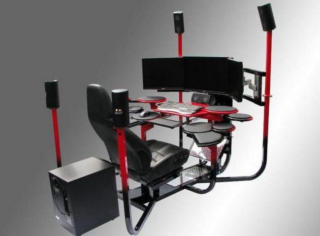 Геймерские столы: самые необычные решения