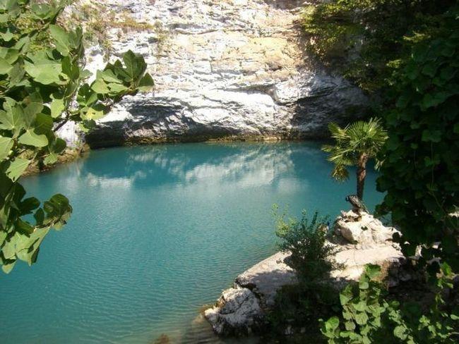 Modro jezero u Abhaziji fotografiju