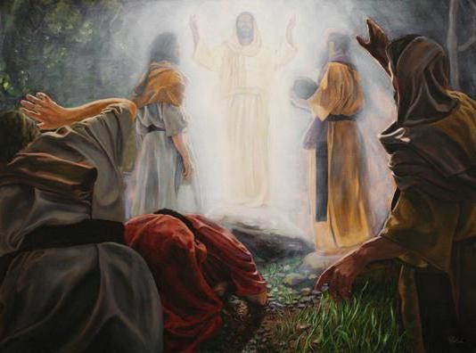 Isus na planini Tabor