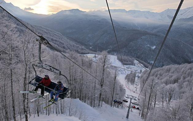 odmor. skijanje. Rusija
