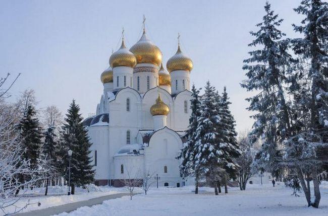 Город ярославль, успенский собор. Успенский кафедральный собор в ярославле