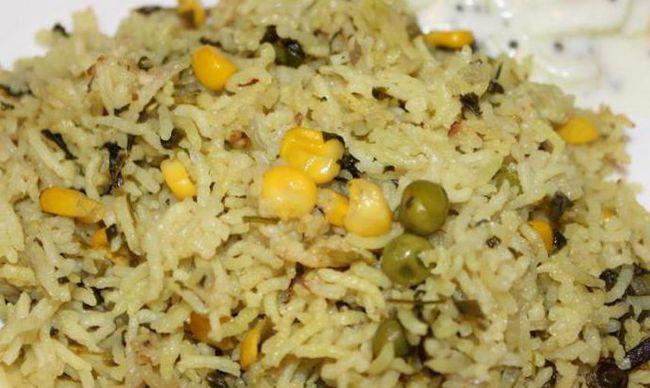 Готовим рис с зеленым горошком и кукурузой