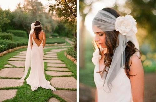 Интересные идеи: свадебные прически на длинный волос с фатой