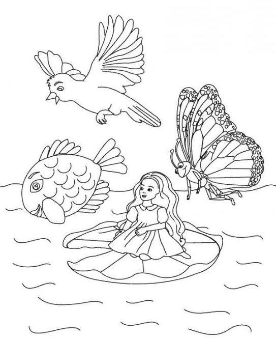 Kako crtati Thumbelina u nekoliko minuta