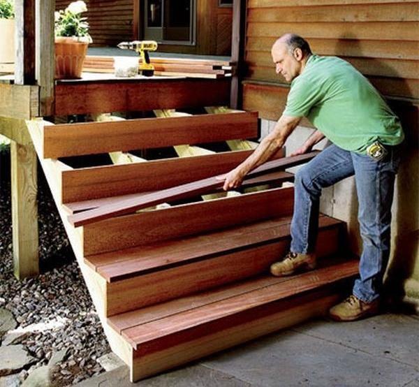 kako napraviti trijem s rukama,