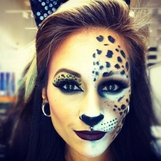 Kako bi mačka šminka za Noć vještica? Šminka mačke za djecu