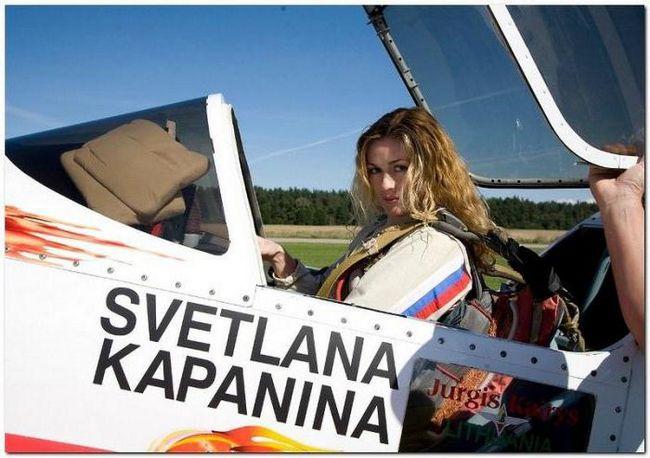 Svetlana Kapanina pilot test kb suho