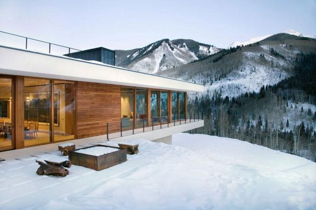каркасно щитовой дом зимний