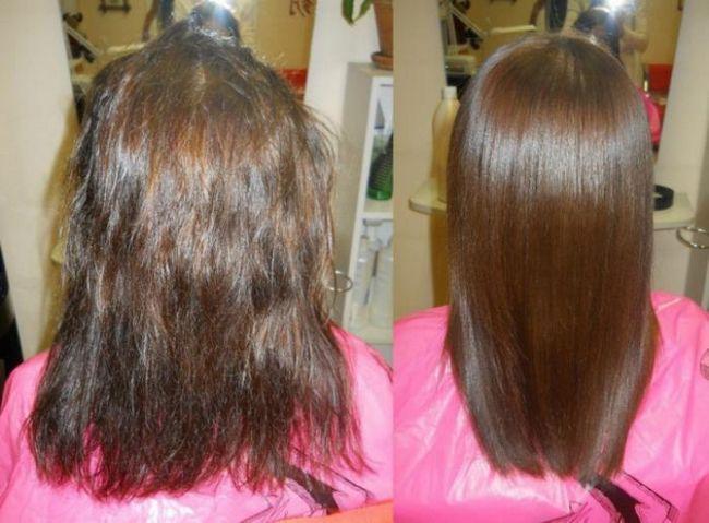 Кератиновое выпрямление волос: на сколько хватает? Особенности процедуры, цена, отзывы