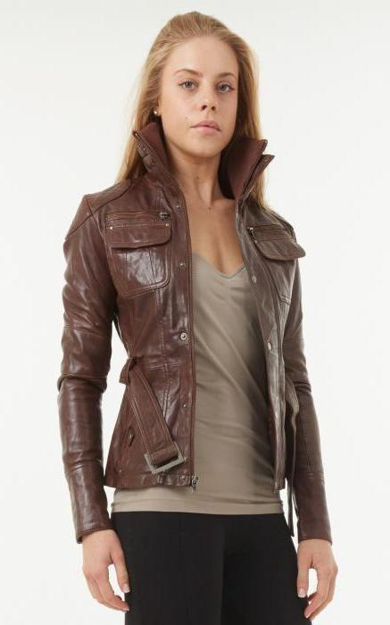 Коричневая кожаная куртка. С чем носить? Фасоны курток