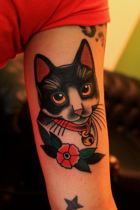 Кот - татуировка для мужчин и женщин