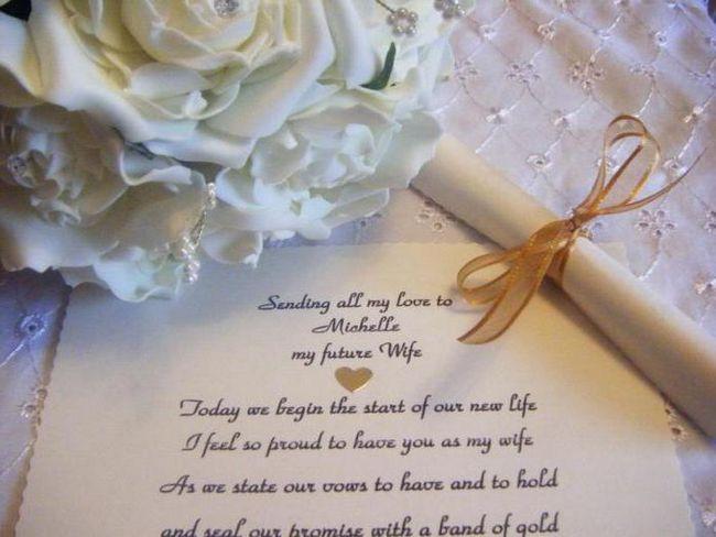 želi mladencima vjenčanje u svojim riječima