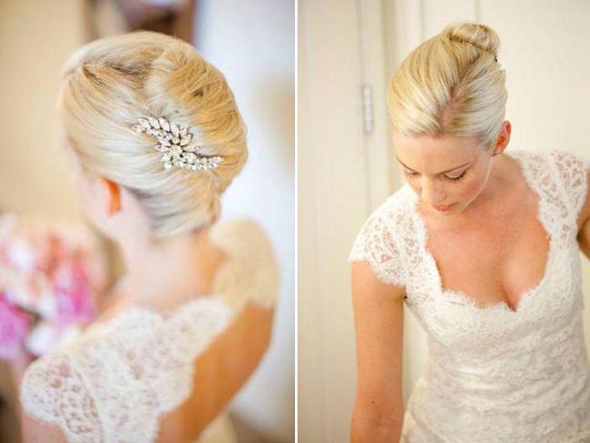 Красивые свадебные прически на каре