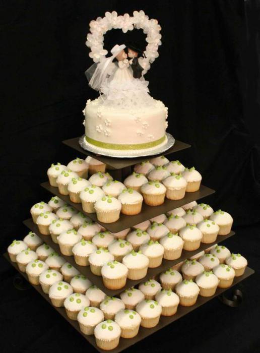 Svadbena torta sa cupcakes