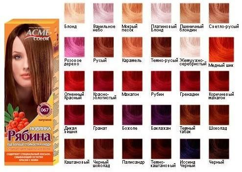 "Boja kose ""Rowan"": paleta boja, mišljenja"