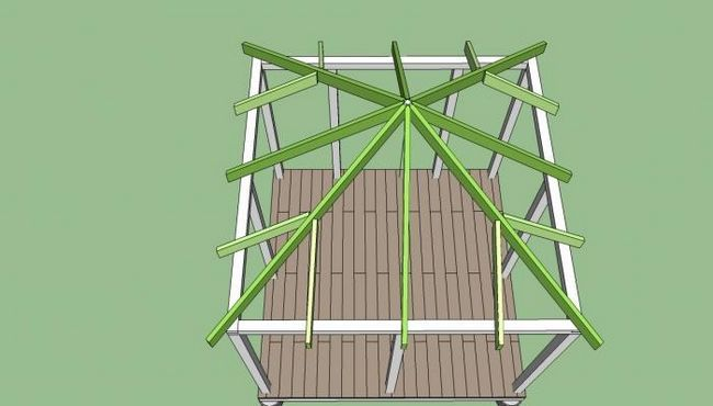 Četvorovodnim krovom za gazebo