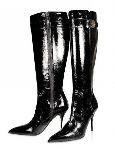 Лаковые сапоги: с чем можно и с чем не следует носить такую обувь?