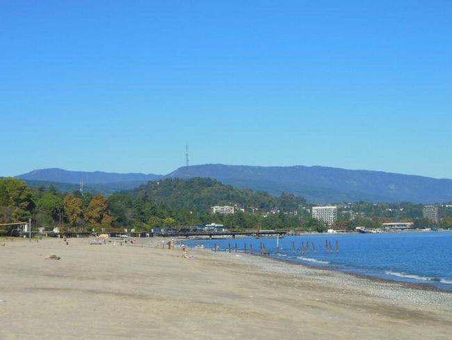 pješčana plaža u Abhaziji