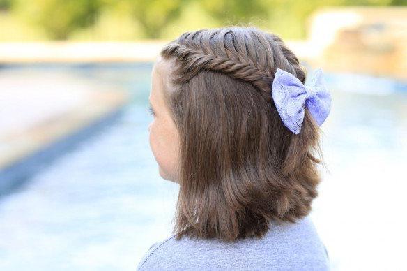 Elegantna frizura lukom za djevojčice
