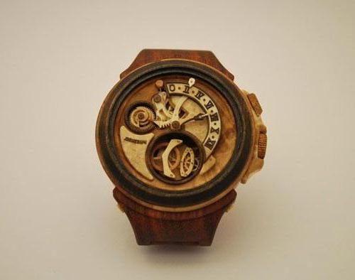 Наручные часы деревянные - стильный аксессуар для самых смелых