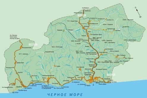 gdje je Krasnodar karta