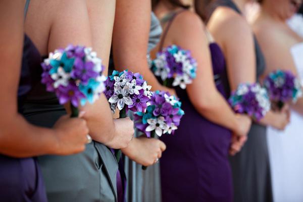 dizajn vjenčanje cvijeća i krpom