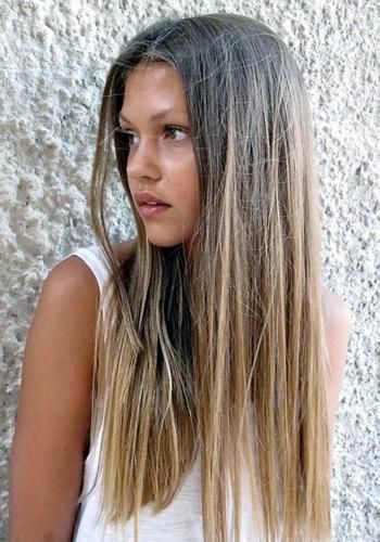 Ombre kosa fotografija u boji