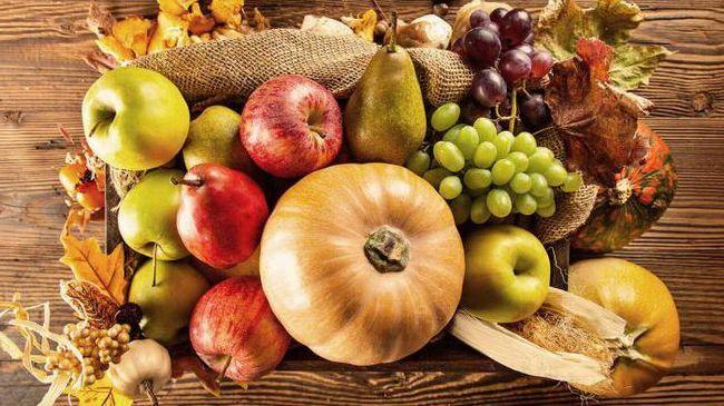 Осенний фрукт. Сезонные осенние овощи и фрукты