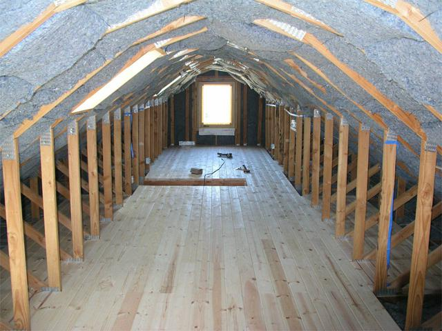 završetka potkrovlje drvene kuće
