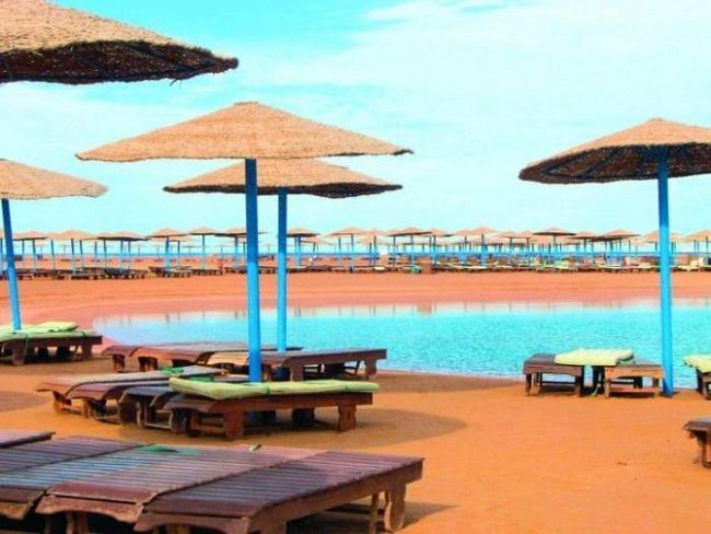 umjetna laguna u hotelu Hilton Long Beach (Hurghada)