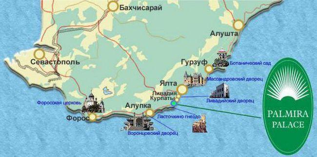 Palmira Palace Jalta na karti