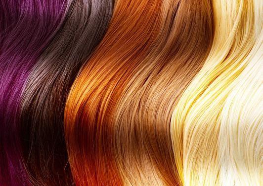 Paleta boja od boje za kosu