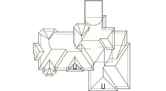 Plan krov obično dizajn crtanje